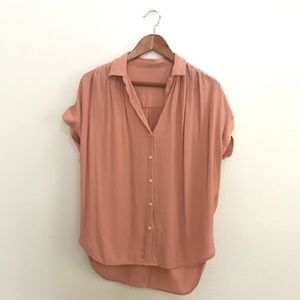 Madewell Central Shirt in Coral